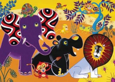 Jigsaw Puzzles for Kids - Tinga Tinga Tales™ -Jungle Gathering