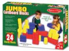 Jumbo Cardboard Blocks - 24pc Cardboard Blocks Set by Melissa & Doug