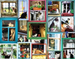 Jigsaw Puzzles - Window Cats