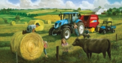 Jigsaw Puzzles - Big Round Baling Day