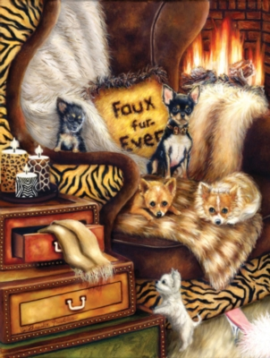 Large Format Jigsaw Puzzles - Faux Furever