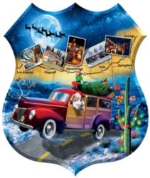 Shaped Jigsaw Puzzles - Santa's Highway