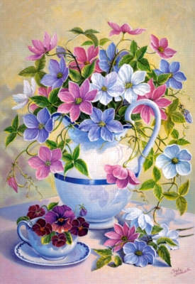 Jigsaw Puzzles - Clematis