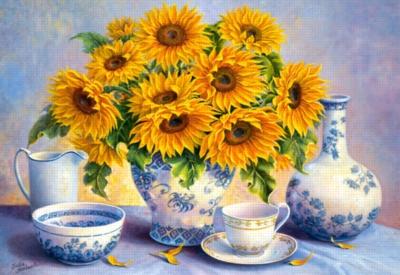 Jigsaw Puzzles - Golden Blue, Trisha Hardwick