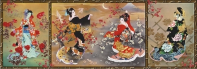 Perre Jigsaw Puzzles - Oriental Triptych