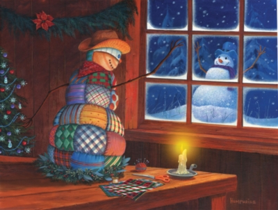 Jigsaw Puzzles - Snowman Patches