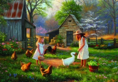 Perre Jigsaw Puzzles - Evening At Grandma's