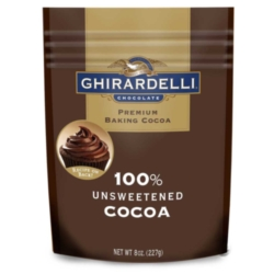 Ghirardelli Unsweetened Cocoa Powder - 8oz Pouch Case
