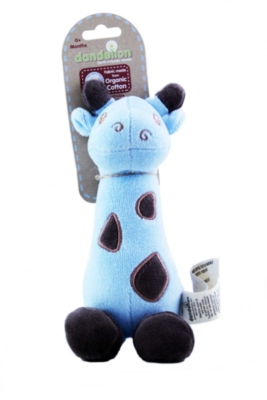 "Organic Giraffe Soft Shaker - 9"" Soft Rattles & Teether"