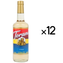 Torani Classic Flavored Syrups - 750 ml Glass Bottle Case