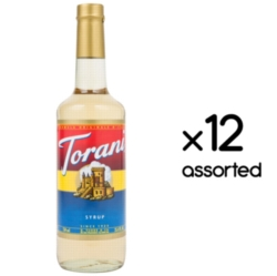 Torani Classic Flavored Syrups - 750 ml Glass Bottle Assorted Case