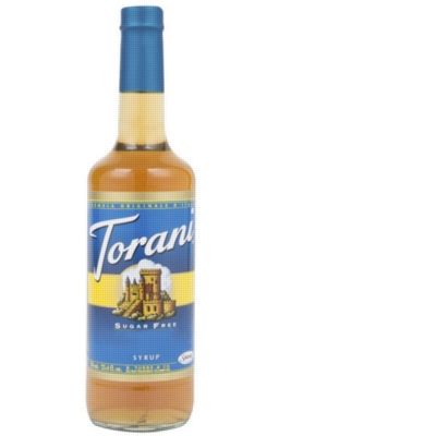 Torani Sugar Free Flavored Syrups - 750 ml Glass Bottle