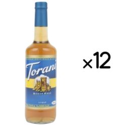 Torani Sugar Free Flavored Syrups - 750 ml Glass Bottle Case