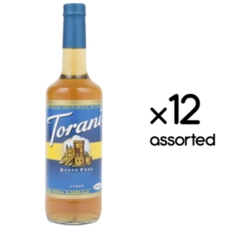 Torani Sugar Free Flavored Syrups - 750 ml Glass Bottle Assorted Case