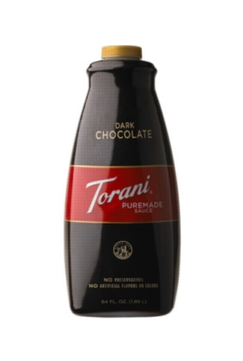 Torani Dark Chocolate Puremade Sauce - 64 oz. Bottle