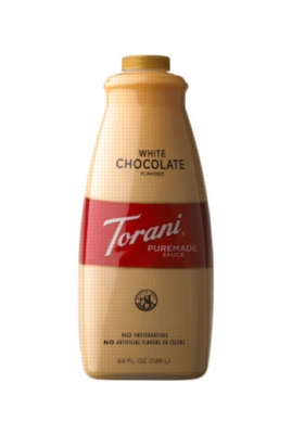 Torani White Chocolate Sauce - 64 oz. Bottle