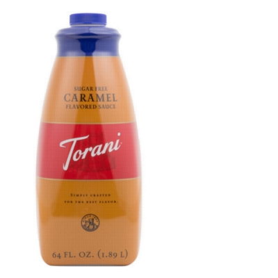 Torani Sugar Free Caramel Sauce - 64 oz. Bottle