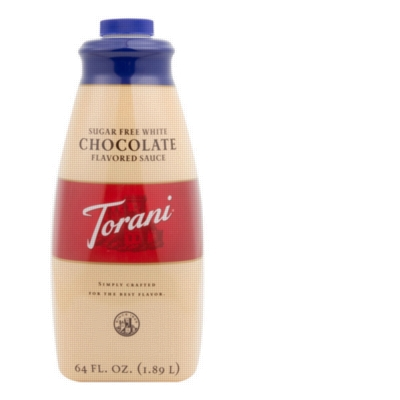 Torani Sugar Free White Chocolate Sauce - 64 oz. Bottle