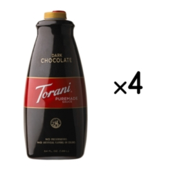 Torani Dark Chocolate Sauce - 64 oz. Bottle Case