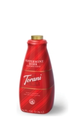 Torani Peppermint Bark Sauce - 64 oz. Bottle Case
