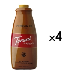 Torani Pumpkin Pie Sauce - 64 oz. Bottle Case