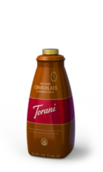 Torani Spicy Dark Chocolate Sauce - 64 oz. Bottle Case