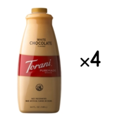 Torani White Chocolate Sauce - 64 oz. Bottle Case