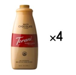 Torani White Chocolate Puremade Sauce - 64 oz. Bottle Case