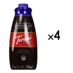 Torani Sugar Free Dark Chocolate Sauce - 64 oz. Bottle Case