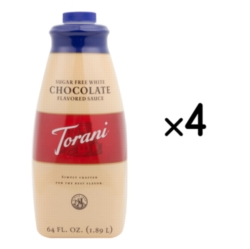 Torani Sugar Free White Chocolate Sauce - 64 oz. Bottle Case