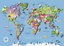 Jigsaw Puzzles for Kids - World Map