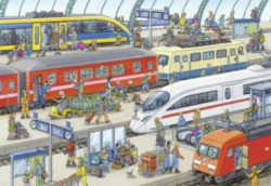 Jigsaw Puzzles for Kids - Railway Station