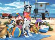 Jigsaw Puzzles for Kids - No Dogs on the Beach