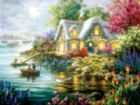 Cottage Cove - 300pc Large Format Jigsaw Puzzle By Sunsout