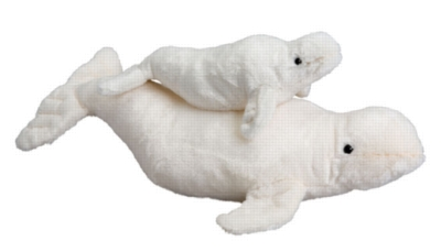 Mommy - 22'' Beluga Whale By Douglas Cuddle Toy