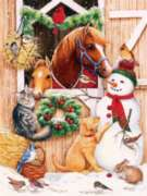 Jigsaw Puzzles - Barn Door Crowd