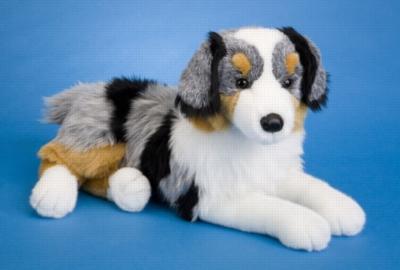 Outback Australian Shepherd - 18'' Dog By Douglas Cuddle Toy