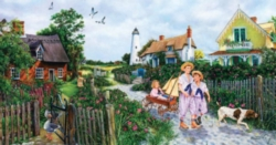 Jigsaw Puzzles - Rose Cottage Lane