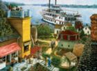 Paddle Boat Landing - 500pc Large Format Jigsaw Puzzle By Sunsout