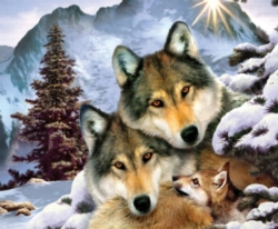 Jigsaw Puzzles - Wolves in Harmony