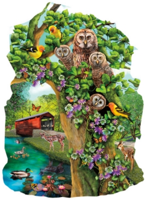 Shaped Jigsaw Puzzles - Owl Condo