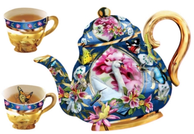 Shaped Jigsaw Puzzles - Tea for Two
