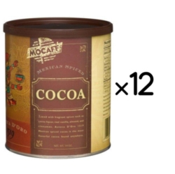 MoCafe - Azteca D'Oro - Mexican Spiced Ground Chocolate - 14 oz. Can Case
