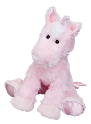 Dawn Pink Action Musical - 8.5'' Horse By Douglas Cuddle Toy