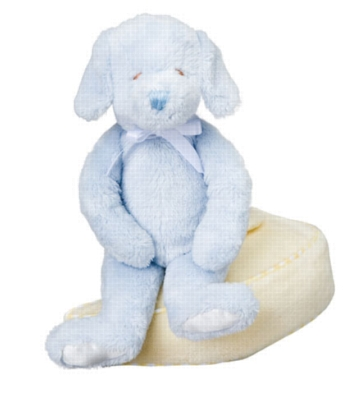 Blue Dog Rattle - 6'' Dog By Douglas Cuddle Toy