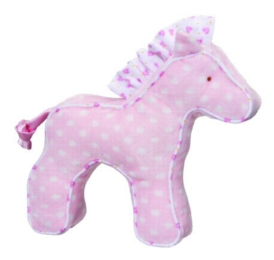 Pink Dot Horse - 7'' Squeaker By Douglas Cuddle Toy