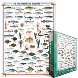 Eurographics Jigsaw Puzzles - Fish, Shellfish & Mollusks