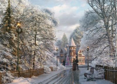 Eurographics Jigsaw Puzzles - New England Christmas Stroll