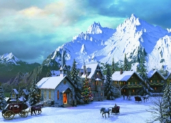 Eurographics Jigsaw Puzzles - Rocky Mountain Christmas