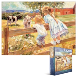 Eurographics Jigsaw Puzzles - Kids on a Fence